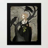 cinderella Canvas Prints featuring Cinderella by Abigail Larson