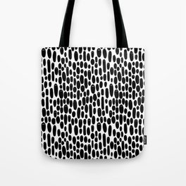 Black and White Creepy Cute Ghosts Pattern Tote Bag