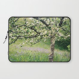 Apple blossom and bluebells Laptop Sleeve