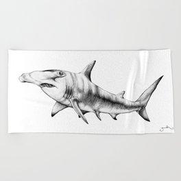 Hammerhead Shark Beach Towel