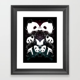 PANDA COLLIDE Framed Art Print
