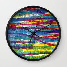 stripes traffic Wall Clock