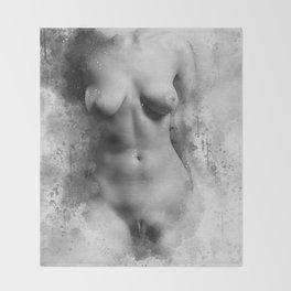 Naked Venus Throw Blanket