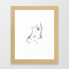 Topaz eye Framed Art Print