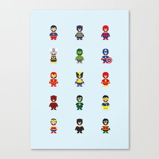 Really Super Marios Canvas Print