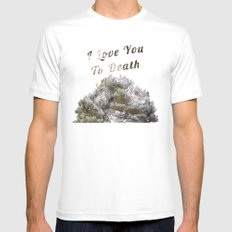 I Love You To Death, Nature Lover. Worldwide Shipping MEDIUM Mens Fitted Tee White