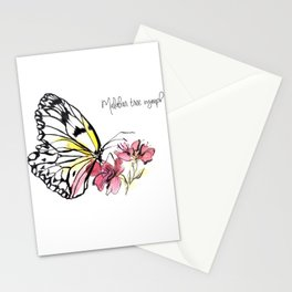 Malabar  Tree Nymph Butterfly Stationery Cards
