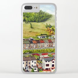 Cwm Parc, Treorchy, South Wales Valleys Clear iPhone Case