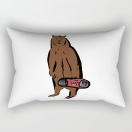 Boombox Bear Rectangular Pillow