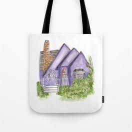 Purple House Tote Bag