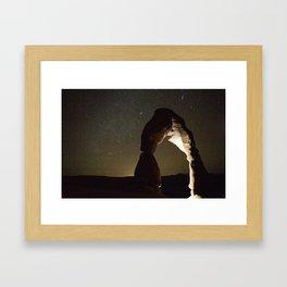 Delicate Arch Under Stars Framed Art Print