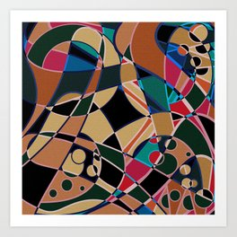 Abstraction. Curves and bends. Art Print