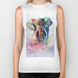 Happy colorful elephant II Biker Tank