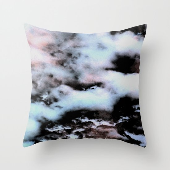 Ice and Smoke Throw Pillow