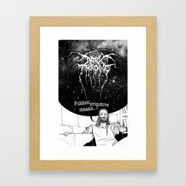 "Fenriz Darkthrone ""make it primitive maaaan"" Framed Art Print"