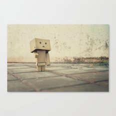 Danbo on the street Canvas Print