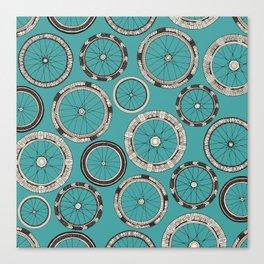 bike wheels turquoise Canvas Print