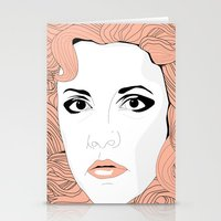 stevie nicks Stationery Cards featuring Stevie by IN SEARCH OF GOOD THINGS