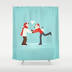 Skaters in Love Shower Curtain