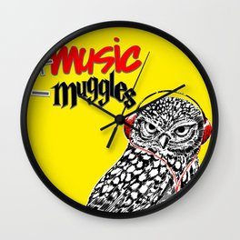 More music, less muggles Wall Clock