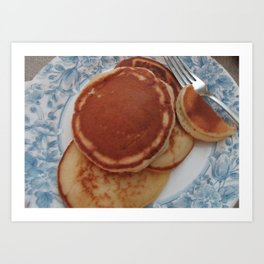 Golden Pancakes with Butter & Syrup  Art Print