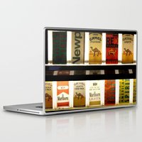 cigarette Laptop & iPad Skins featuring Cigarette Machine by Lesley Ross Media