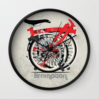 brompton Wall Clocks featuring Brompton Bike by Wyatt Design
