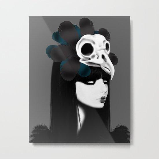 dark bird (lady bird) Metal Print