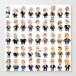 45 Presidents of the U.S.A. Canvas Print