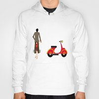 vespa Hoodies featuring VESPA by Joe Pansa