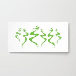 Dancers green Metal Print