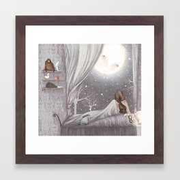 Sophie and the Moon Framed Art Print