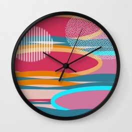 Multicolored abstraction Wall Clock