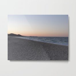 Divided: Sand, Ocean, and Sky Metal Print