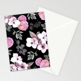 Night bloom - pink blush Stationery Cards