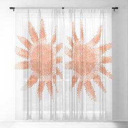 Starfish - Orange Palette Sheer Curtain