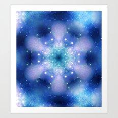 Fantasy flower 04 blue Art Print