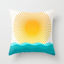 Sun and Sea Throw Pillow