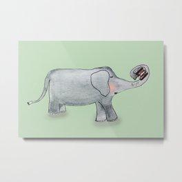 Elefant In Love Metal Print