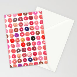 Lipstick Donuts Stationery Cards