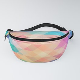 Vibrant Pastel Triangle Pattern Fanny Pack