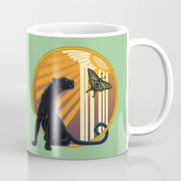 Jaguar Plain Art Deco Coffee Mug