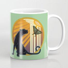 Jaguar Plain Art Deco Coffee Mug