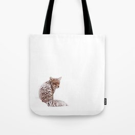 A Fox Fantasy (Red Fox in the snow)  Tote Bag