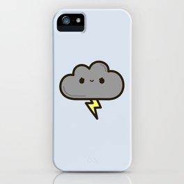 Cute lightning cloud iPhone Case
