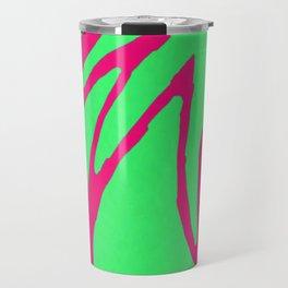 Green Pink Pattern Travel Mug