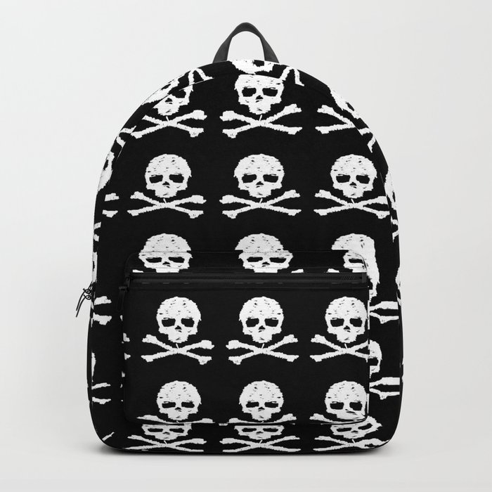 Skull and XBones in Black and White Backpack