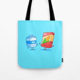 Milk and Corn (Best friends. Character set.) Tote Bag