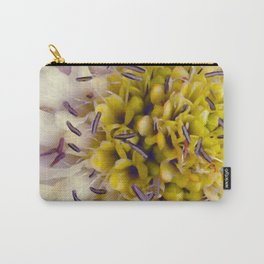 Flower Purple Yellow Carry-All Pouch