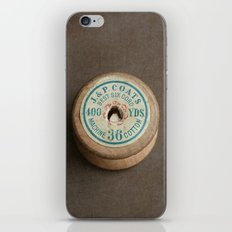 Vintage Cotton Reel iPhone & iPod Skin